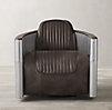 Aviator Leather Swivel Chair