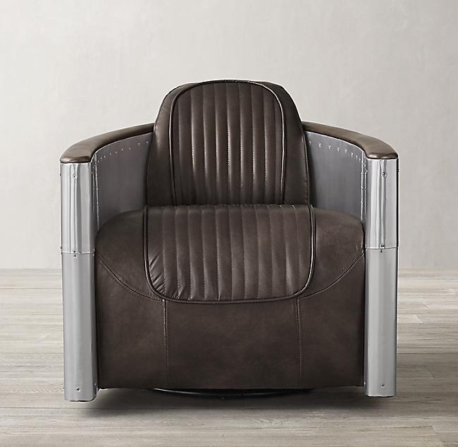 Astounding Aviator Leather Swivel Chair Short Links Chair Design For Home Short Linksinfo