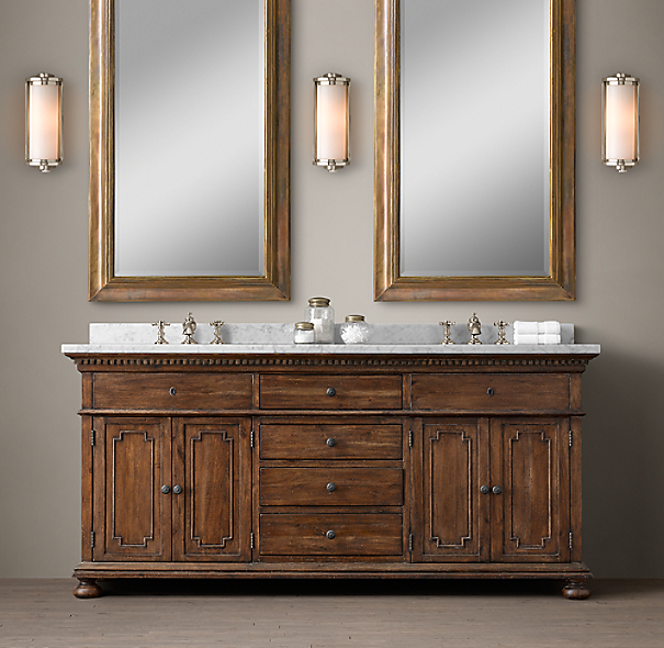 Restoration Hardware Bathroom Vanity Knockoff: St. James Double Vanity