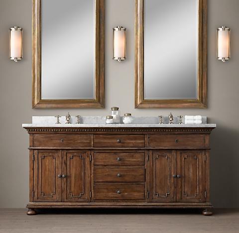 5 finishesSt  James Bath Collection   RH. Restoration Hardware Bathroom Mirrors. Home Design Ideas
