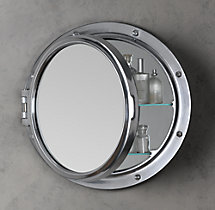 royal naval porthole mirrored medicine cabinet 25 diam 4 d