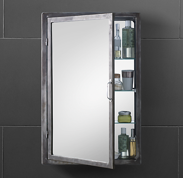 Wall cabinet with glass