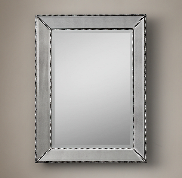 Venetian Beaded Mirrors Silver