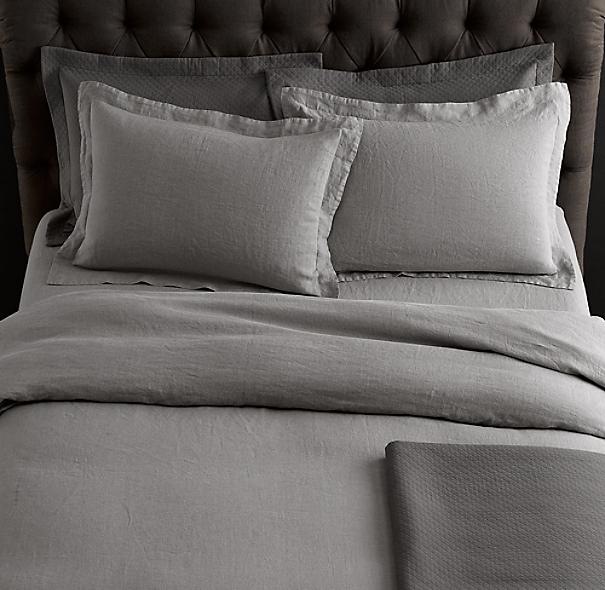 stonewashed belgian linen bedding collection. Black Bedroom Furniture Sets. Home Design Ideas