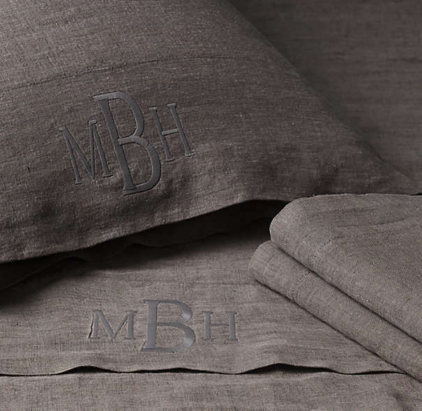 Stonewashed Belgian Linen Bedding Collection