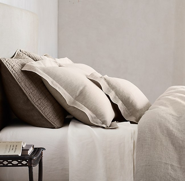 washed belgian linen bedding collection
