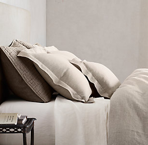 Linen bedding rh vintage washed belgian linen bedding collection publicscrutiny Image collections