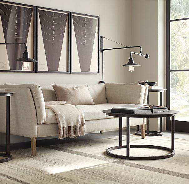 Restoration Hardware Return Policy sorensen upholstered sofa