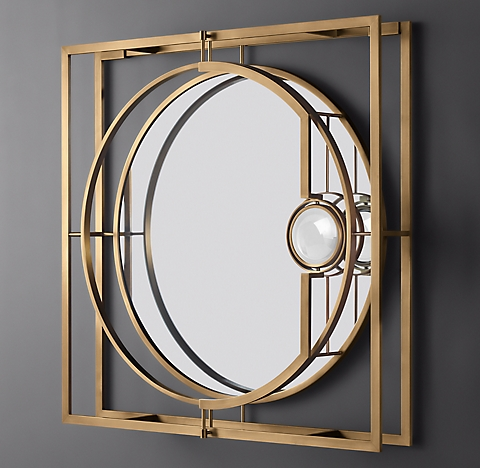 All Mirrors Rh, X Large Round Gold Mirror