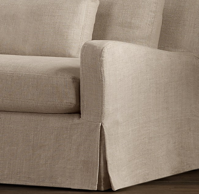 linen sofa cover slope arm replacement slipcovers