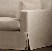 Belgian Track Arm Slipcovers