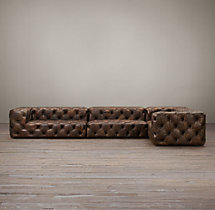 Soho Tufted Leather L-Sectional