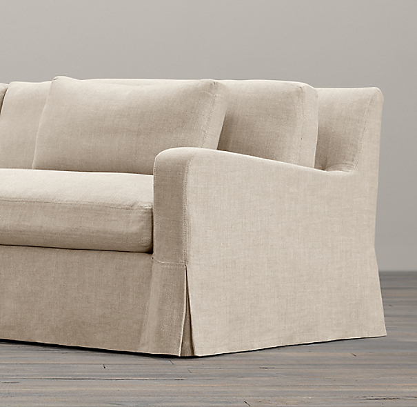 Belgian Slope Arm Two Seat Cushion Sofa Replacement Slipcovers