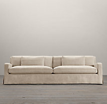 Belgian Slope Arm Two-Seat-Cushion Sofa Slipcovers