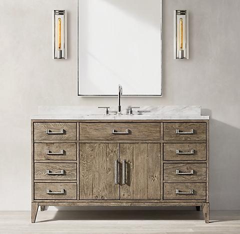 Single Vanities Rh, 65 Wide Bathroom Vanity