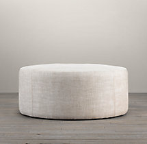 "36"" Cooper Upholstered Round Ottoman"
