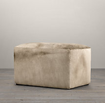 "34"" Cooper Hair-On-Hide Rectangular Ottoman"