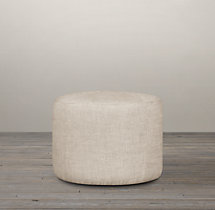 "21"" Cooper Upholstered Round Ottoman"