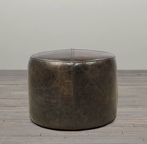 21 cooper leather round ottoman for 30 inch round ottoman