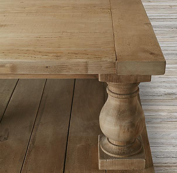 %name Balustrade Salvaged Wood Coffee Table
