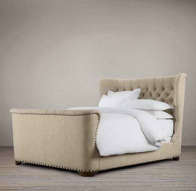 Churchill Fabric Bed With Footboard