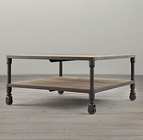 Buy White Glass And Metal Square Coffee Table From Fusion: Dutch Industrial Square Coffee Table
