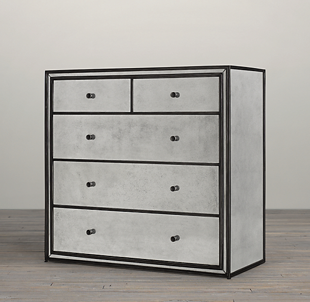 Strand Mirrored 5 Drawer Dresser
