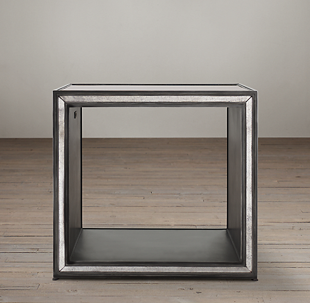 Strand Mirrored Side Cube Table