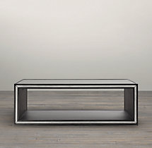 "72"" Strand Mirrored Coffee Table"