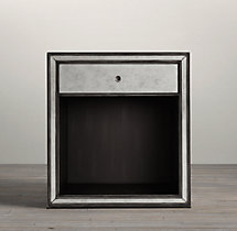 Strand Mirrored Open Nightstand