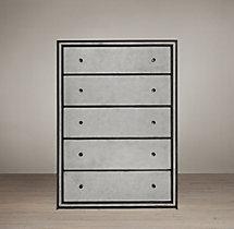 Strand Mirrored 5 Drawer Narrow Dresser