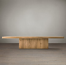Reclaimed Russian Oak Plinth Coffee Table
