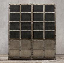 Industrial Tool Chest Panel 4 Door Sideboard Amp Mesh Hutch