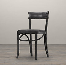 Vienna Café Leather Side Chair