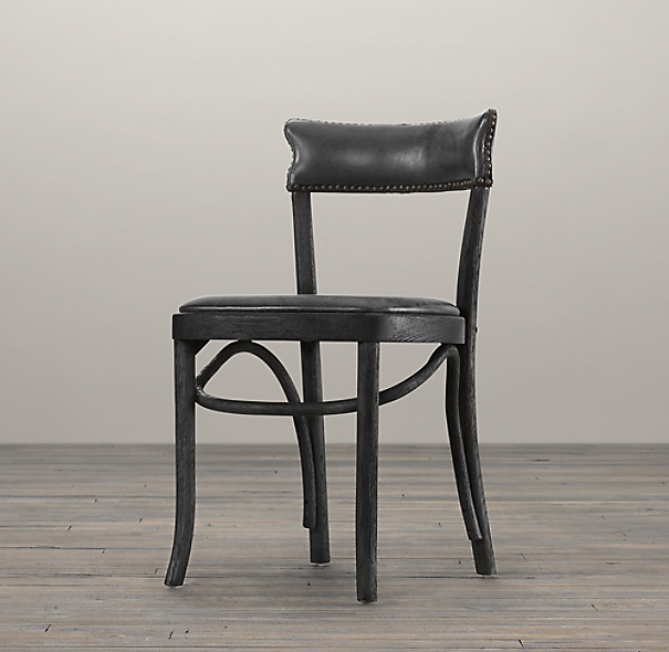 Restoration Hardware Dining Chairs: Vienna Café Leather Side Chair