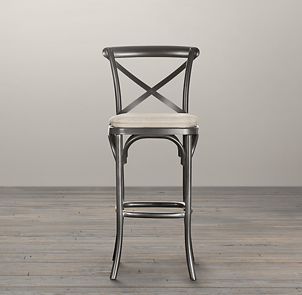 Metal madeleine stool - Madeleine bar stool ...