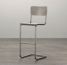 Metal Schoolhouse Stool