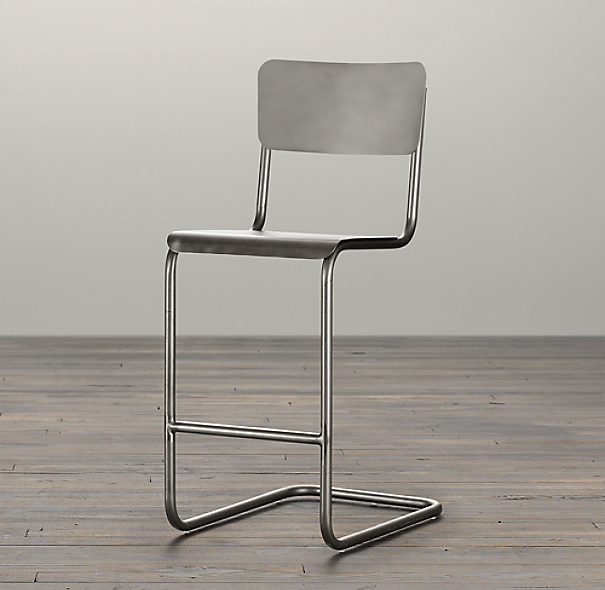 Metal Schoolhouse Counter Stool