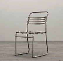 1930s Belgian Stacking Metal Side Chair