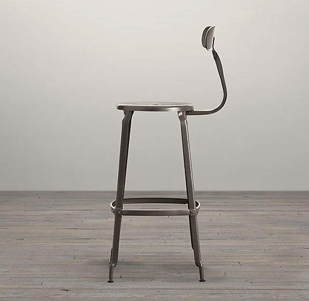French T Back Stool