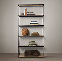Reclaimed Russian Oak Parquet Single Shelving