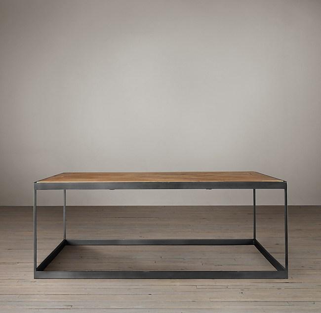 russian oak parquet coffee table