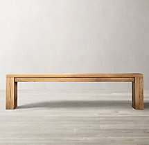 Reclaimed Russian Oak Parsons Bench