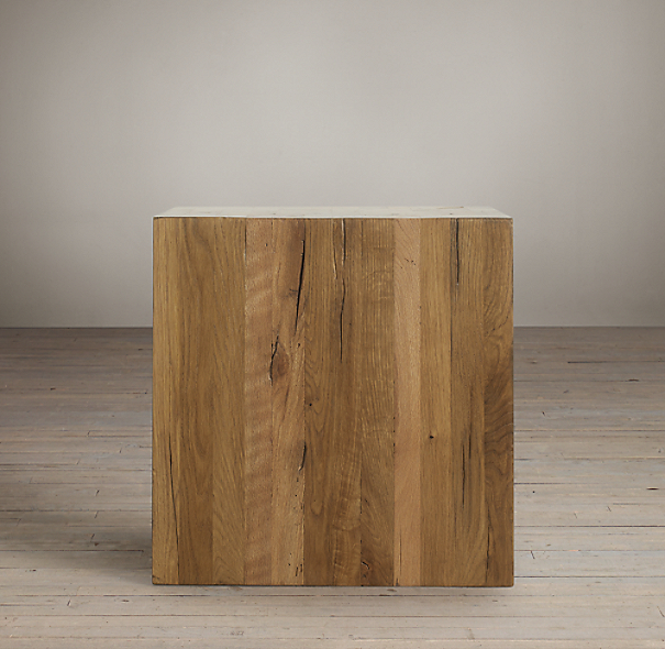 Reclaimed Russian Oak Parsons Cube
