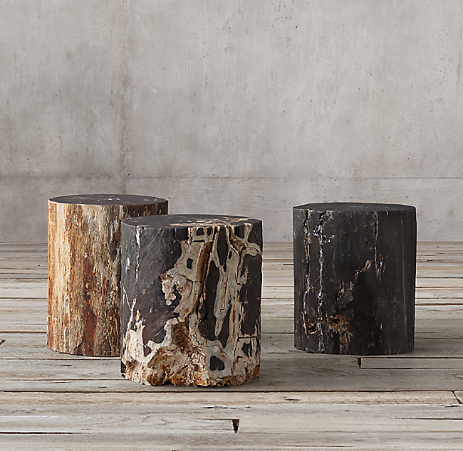 Petrified Wood Stump Dark Side Table Color Preview Unavailable