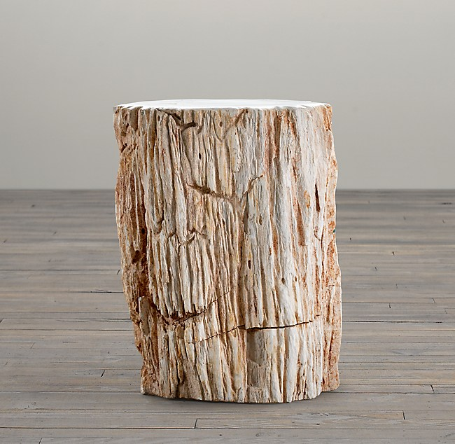Outstanding Petrified Wood Stump Mixed Side Table Camellatalisay Diy Chair Ideas Camellatalisaycom