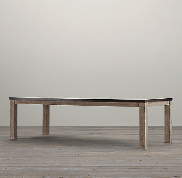 Railroad Tie Parsons Rectangular Dining Table