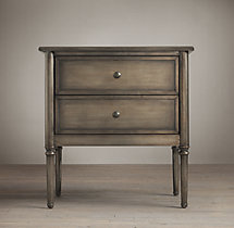 "Spencer Metal 26"" Closed Nightstand"