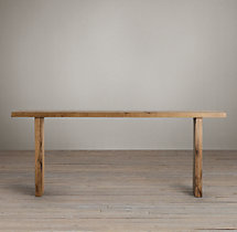 Reclaimed Russian Oak Plank Console