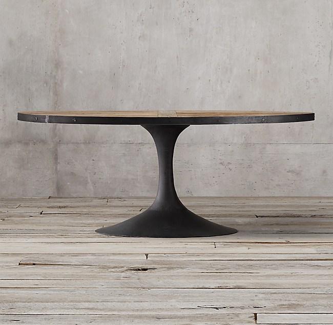 Aero Reclaimed Elm Oval Dining Table
